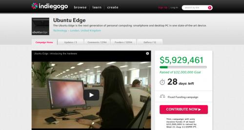 Ubuntu Edge Smartphone Indiegogo